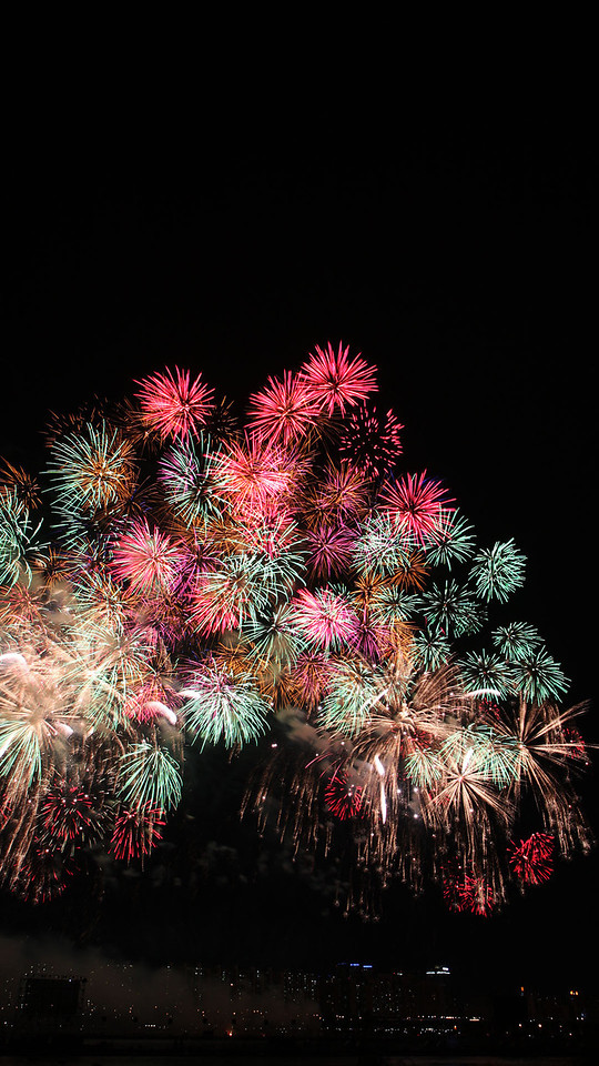 Finale of Japan session at Seoul Fireworks Festival
