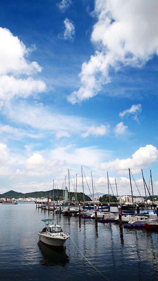 Boats at Tongyeong Marina Resort