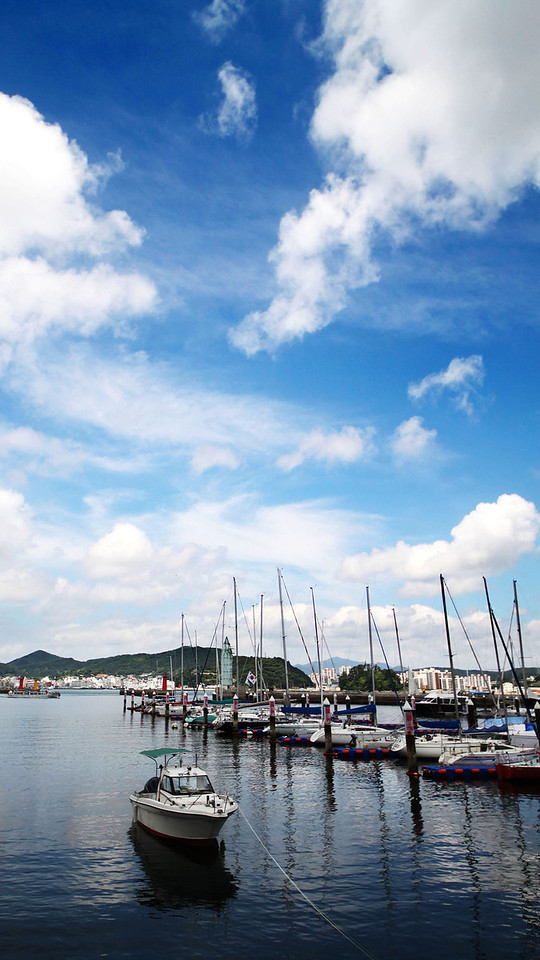 Boats at Tongyeong Marina Resort